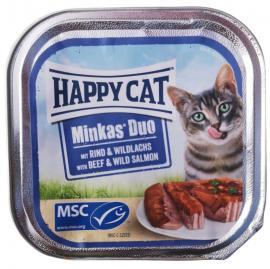 HAPPY CAT DUO PÁSTÉTOMOS FALATKÁK MARHA-VADLAZAC 100gr