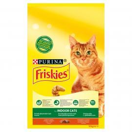 FRISKIES Indoor Csirkével és hozzáadott kerti zöldségekkel száraz macskaeledel 10kg