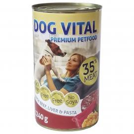 Dog Vital konzerv Beef, Liver&Pasta 1240gr