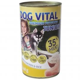 Dog Vital Junior konzerv chicken&rice 1240gr