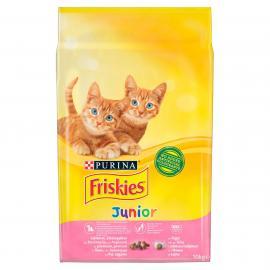 FRISKIES Junior Csirkével, tejjel és hozzáadott zöldségekkel száraz macskaeledel 10kg