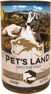 Pet s Land Dog Konzerv Sertés-Hal körtével 1240g