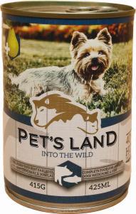 Pet s Land Dog Konzerv Sertés - Hal körtével 415g