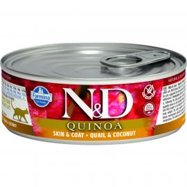 N&D Cat konzerv Quinoa Fürj & Kókusz 80gr