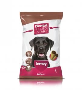 Boney Jutalomfalat Dental Filled Star 200g