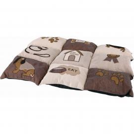 Fekhely több lapból álló macskás (patchwork) 55x40cm barna/bézs