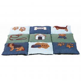 Fekhely több lapból álló macskás (patchwork) 80x55cm Kék/Zöld