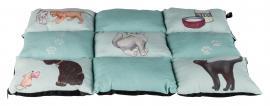 Fekhely több lapból álló macskás (patchwork) 70*55cm zöld