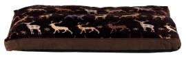 Xmas fekhely rénszarvas mintával 70*55cm barna