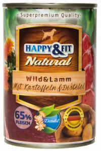 Happy&Fit Natural Wild&Lamm mit Kartoffeln&Distelöl 400g