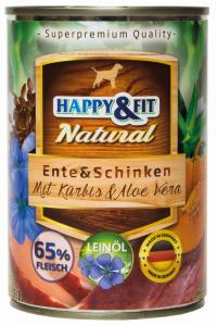 Happy&Fit Natural Ente&Schinken mit Kürbis&Aloe Vera 400g