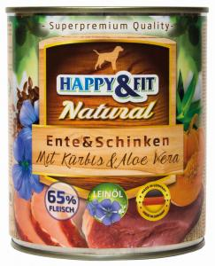 Happy&Fit Natural Ente&Schinken mit Kürbis&Aloe Vera 800g
