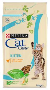 CAT CHOW Kitten Csirkében gazdag száraz macskaeledel 1,5kg