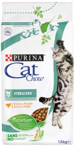 CAT CHOW Sterilised Csirkében gazdag száraz macskaeledel 1,5kg