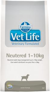 Vet Life Dog Neutered 1-10kg 2kg