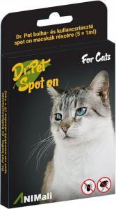 Dr.Pet bolha+kullancsriasztó spot cica 5*1ml