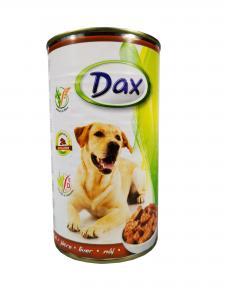 Dax kutya konzerv májas 1240gr