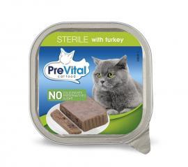 Prevital macskaeledel tálcás 100g steril pulyka