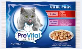 Prevital macskaeledel tasakos 100g 4db-os marha nyúl-pulyka vegyes íz