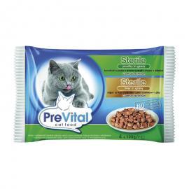 Prevital macskaeledel tasakos 100g 4db-os steril máj baromfi