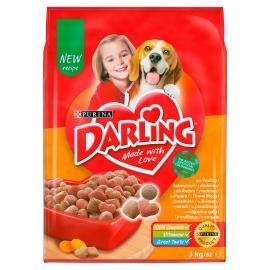 DARLING Szárnyassal és hozzáadott, válogatott zöldségekkel száraz kutyaeledel 3kg