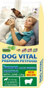 Dog Vital Junior Sensitive Maxi Breeds Lamb 12kg