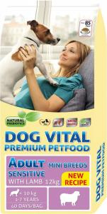 Dog Vital Adult Sensitive Mini Breeds Lamb 12kg