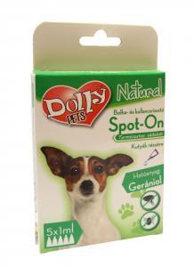 Dolly Natural bolha és kullancsriasztó spot on kutyák részére 5x1ml