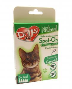 Dolly Natural bolha és kullancsriasztó spot on macskák részére 5x1ml
