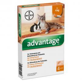 Advantage 40 macska/nyúl 0,4 ml 4 kg alatt 4x