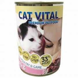 CAT VITAL KITTEN KONZERV BAROMFI+VAD 415GR
