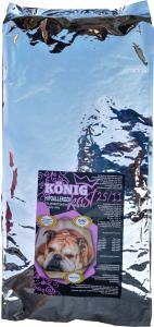 König Kost teljes értékű hypoallergén kutyaeledel bárány-rizs 15 kg