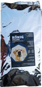 König Kost teljes értékű hypoallergén kutyaeledel hal-rizs 15 kg