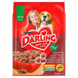 DARLING Marhával és hozzáadott, válogatott zöldségekkel száraz kutyaeledel 3kg