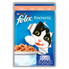 FELIX FANTASTIC Lazaccal aszpikban nedves macskaeledel 100g