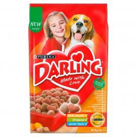 DARLING Szárnyassal és hozzáadott, válogatott zöldségekkel száraz kutyaeledel 10kg