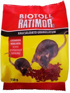Rágcsálóirtó BIOTOLL Ratimor gran. zacs.150g