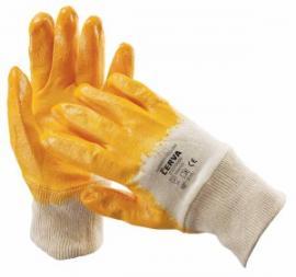 Kesztyű textil nitril sárga