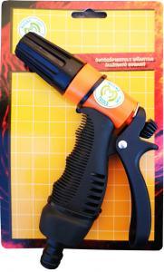 Locsoló pisztoly állítható sugarú műanyag