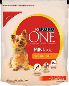 Purina One Mini Senior csirkében gazdag száraz kutyaeledel 800 g