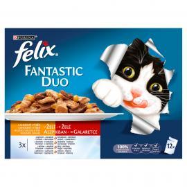 FELIX FANTASTIC Házias válogatás aszpikban nedves macskaeledel 12x100g