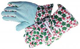 Kerti kesztyű virágmintás textil AVOCET 9-es