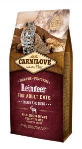 CARNILOVE CAT ADULT REINDEER ENERGY & OUTDOOR- RÉNSZARVAS HÚSSAL 6kg
