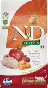 N&D Cat Grain Free Pumpkin Neutered Fürj ivartalanított 1,5kg