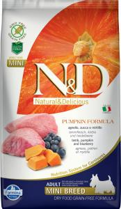 N&D Dog Grain Free bárány&áfonya sütőtökkel adult mini 2,5kg