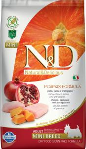 N&D Dog Grain Free csirke&gránátalma sütőtökkel adult mini 2,5kg