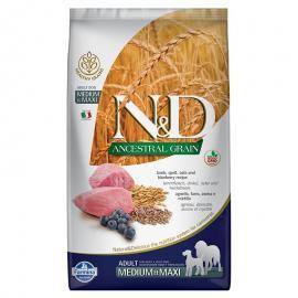 N&D Dog Ancestral Grain bárány,tönköly,zab&áfonya adult med&maxi 12kg