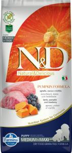 N&D Dog Grain Free bárány&áfonya sütőtökkel puppy medium/maxi 12kg
