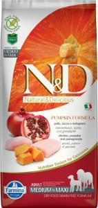 N&D Dog Grain Free csirke&gránátalma sütőtökkel adult medium&maxi 12kg