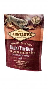 Carnilove Cat Kacsa & pulyka Large Breed – Muscles, Bones, Joints 400g